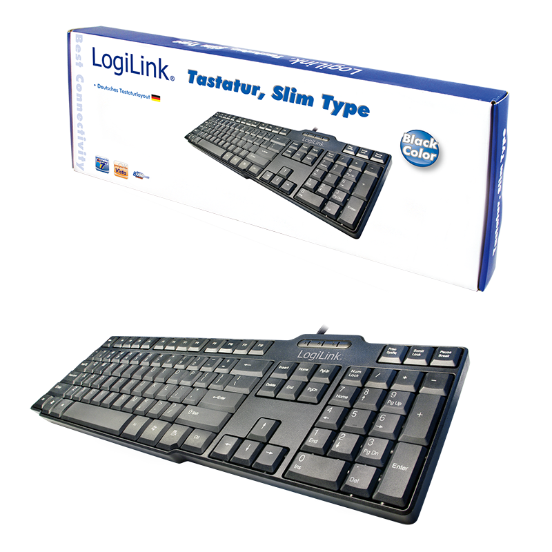 LogiLink :: Produkt Tastatur Slim USB schwarz  29.07.2018