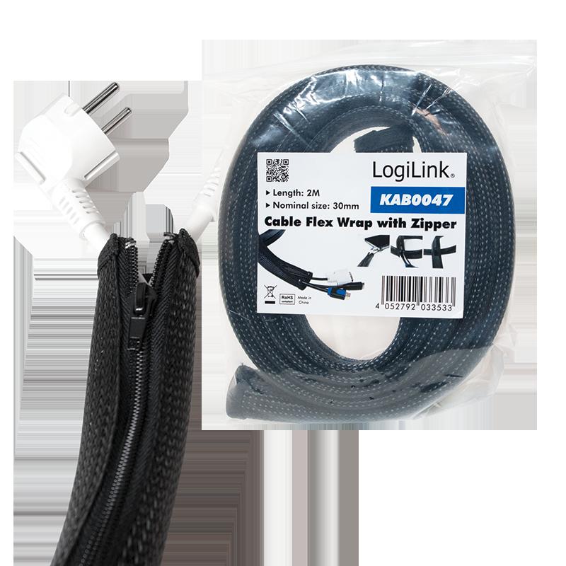 LogiLink :: Produkt Flexibler Kabelschutz mit Reißverschluss ...