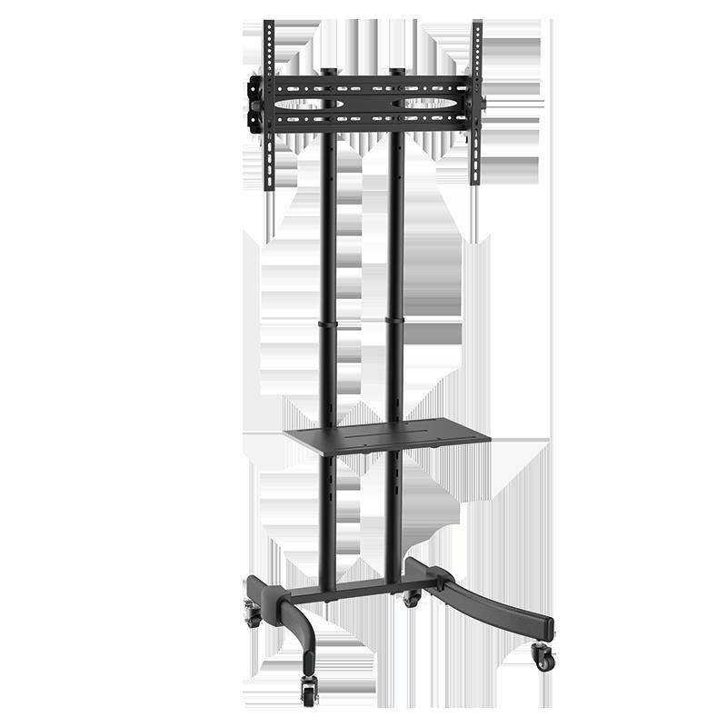 logilink produkt tv st nder auf rollen h henverstellbar 37 70 max 40 kg belastung. Black Bedroom Furniture Sets. Home Design Ideas