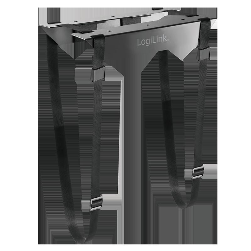 logilink produkt justierbare unter tisch pc halterung mit gurt. Black Bedroom Furniture Sets. Home Design Ideas