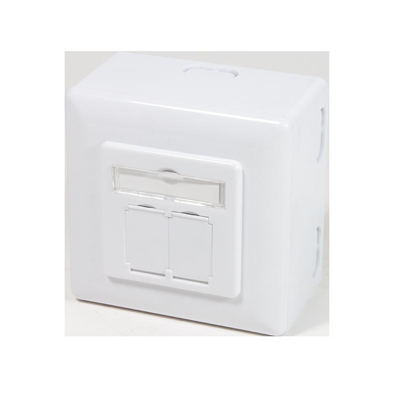 logilink produkt dose cat 6 anschlussdose up ap 2xrj45. Black Bedroom Furniture Sets. Home Design Ideas