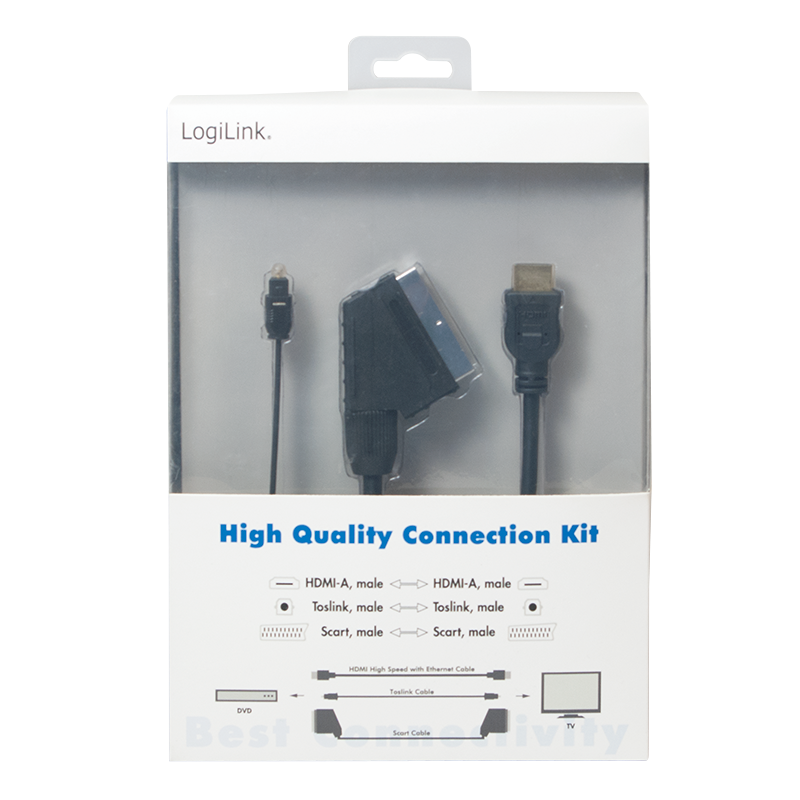 LogiLink :: Produkt Kabel Anschluss Set HDMI Scart Toslink |01.08.2018