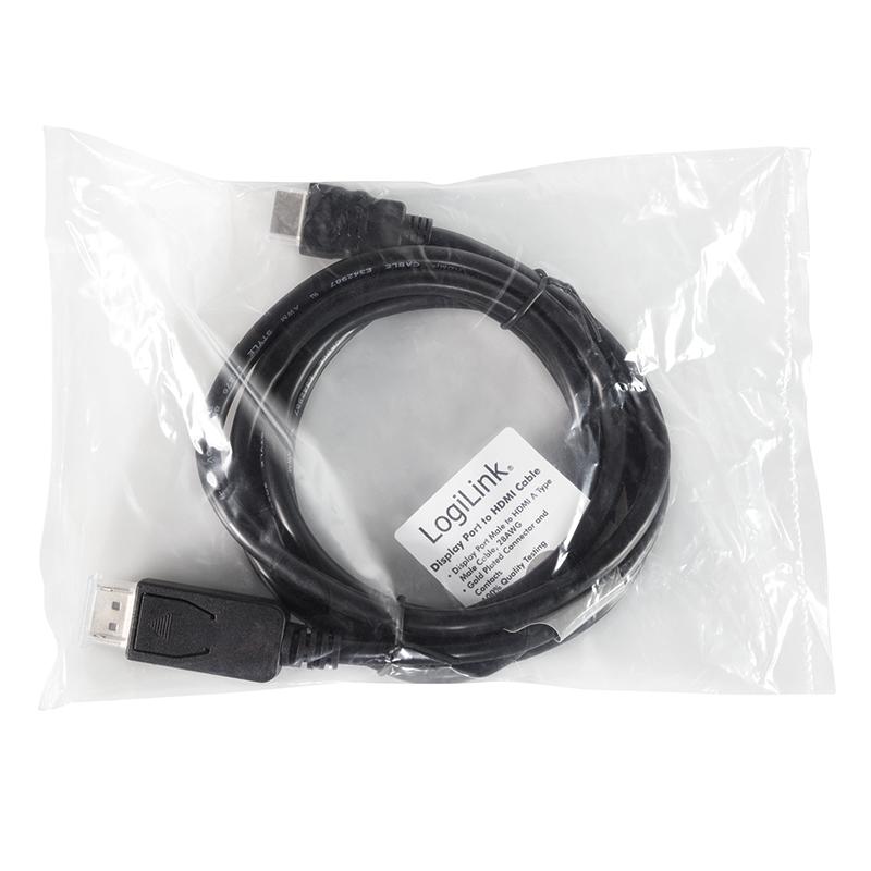 LogiLink :: Produkt Kabel DisplayPort auf HDMI, 3m, schwarz|15.04.2018