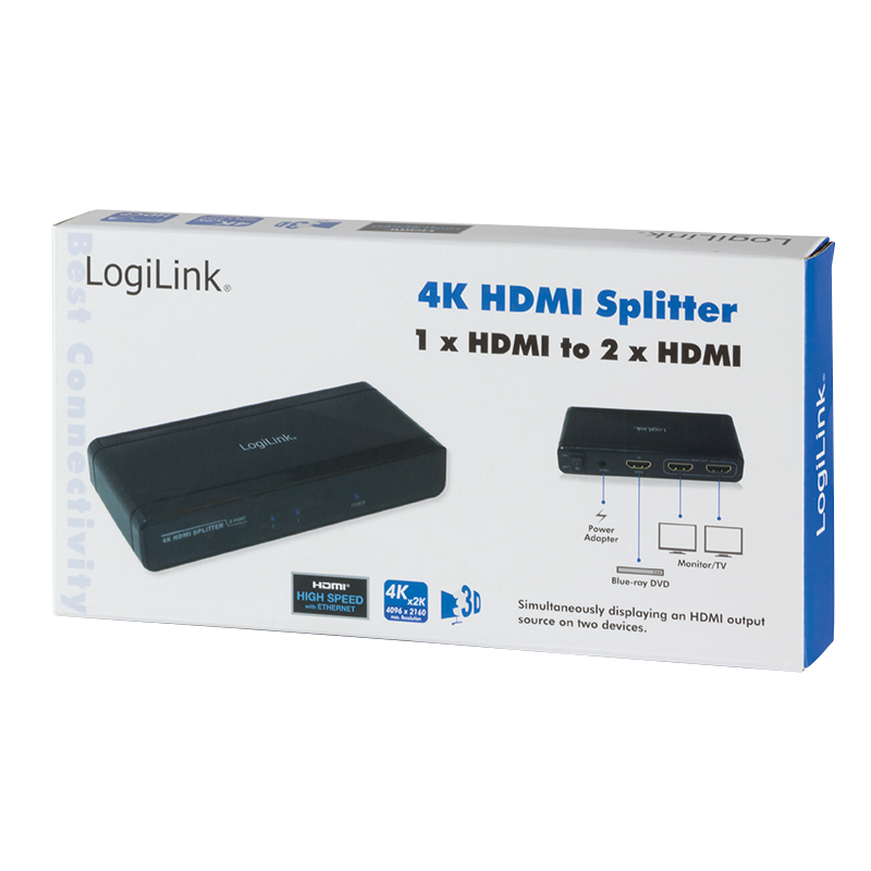 LogiLink :: Produkt 4K HDMI Splitter 1x2-Port|04 08 2019