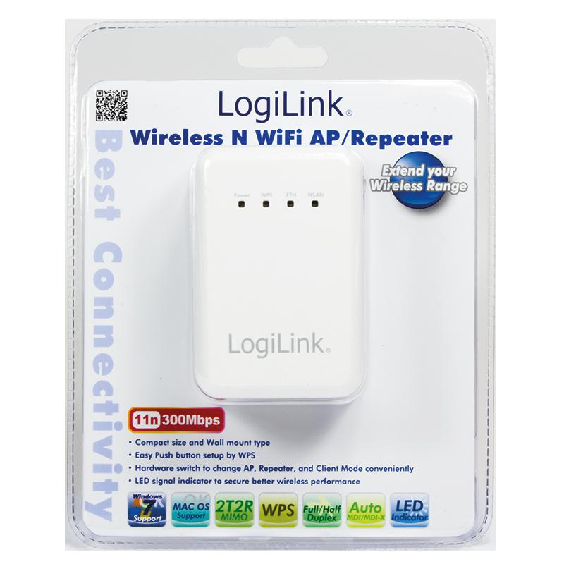 LogiLink :: Produkt Wireless LAN 300 Mbit/s AP/Client Router